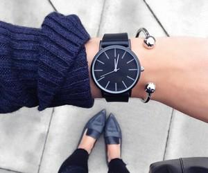black, dark blue, and fashion image