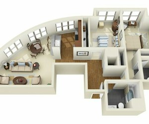3d, design, and floor plans image