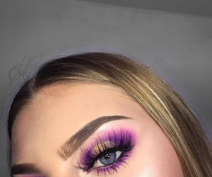 lashes, purple eye makeup, and ‎mua‬ ‪ image