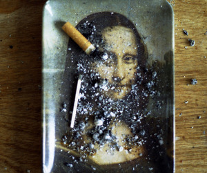 cigarette, mona lisa, and art image
