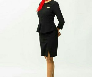 airplane, clothes, and dress image