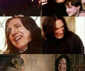 harry potter, snape, and smile image