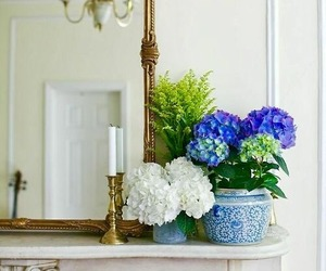 flowers, home decor, and mantle decor image