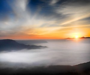 japan, aso, and sea of clouds image