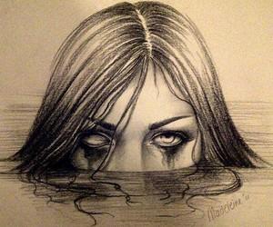 creepy, dark, and draw image