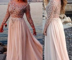 long prom dress, dress, and prom dresses image