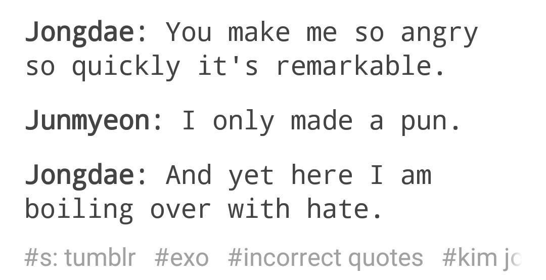 jongdae and junmyeon s relationship xdd via tumblr