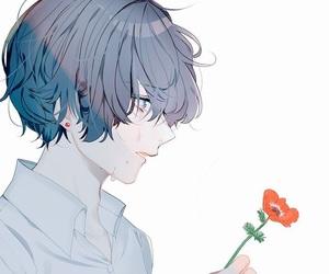 anime, boy, and crying image