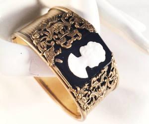 cameo, costume jewelry, and vintage jewelry image