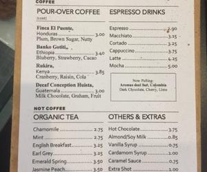 cafe, menu, and coffee shop image