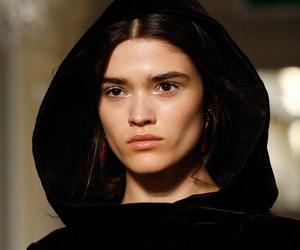 black, cape, and fashion image