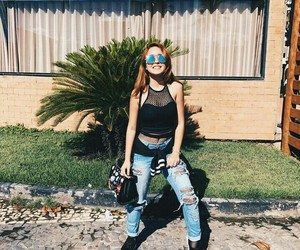 jeans, style, and ginger image