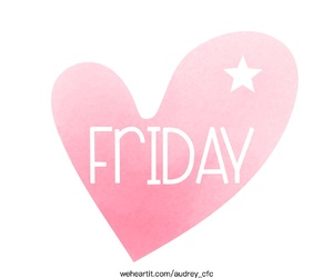 friday, heart, and life image