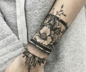 flower, full sleeve, and girl image