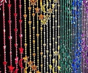 bead, curtain, and rainbow image