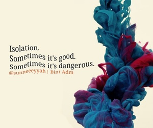 alone, isolation, and quotes image