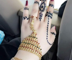 design, henna, and hold image