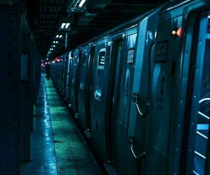 blue, train, and light image