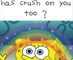 crush, funny, and love image