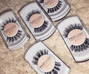 false eyelashes, fashion, and girl image