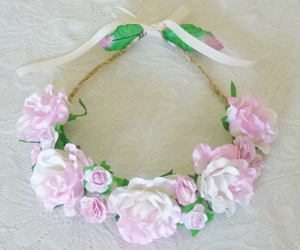 etsy, rose hair wreath, and flower crown image