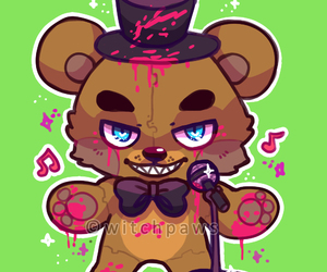 cute and five nights at freddys image