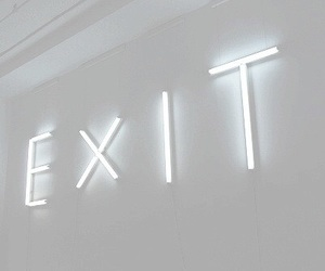 exit and white image
