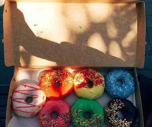 colors, dessert, and donuts image