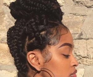 makeup, beauty, and braids image