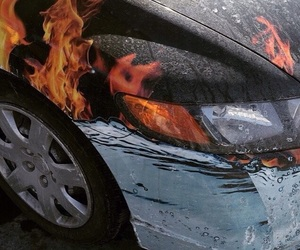 theme, car, and flame image