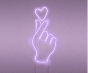 aesthetic, heart, and neon image