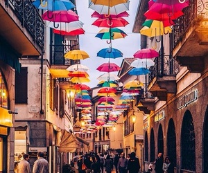 colors, italy, and umbrella image