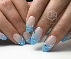 blue, summer, and blue nails image