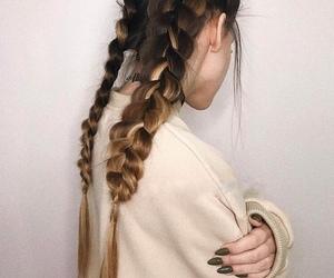 baby, braids, and khaki image