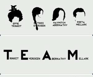 team, effie, and katniss image
