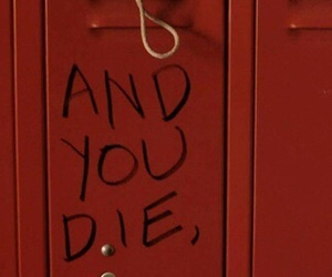aesthetic, lockers, and red image