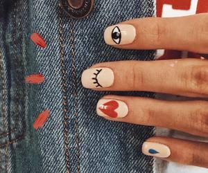nails, eye, and heart image