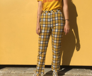 clothes, outfit, and yellow image