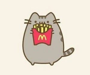 pusheen and fries image