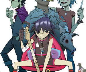 gorillaz, 2d, and murdoc image