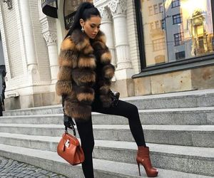 fashion, style, and fur image