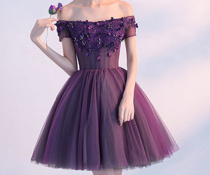 evening dress, purple dress, and two pieces dress image