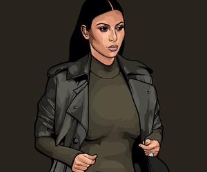 fan art, illustration, and kim kardashian west image
