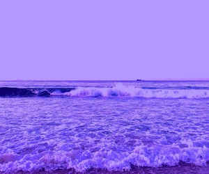 purple, beach, and ocean image