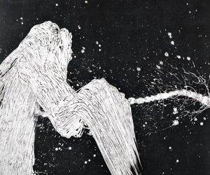 art and black & white image