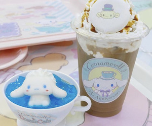 cafe, cinnamoroll, and drink image