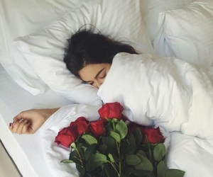 sleeping and roses image