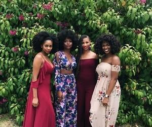 Afro, beautiful, and black woman image