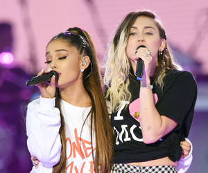 ariana grande, miley cyrus, and arianagrande image
