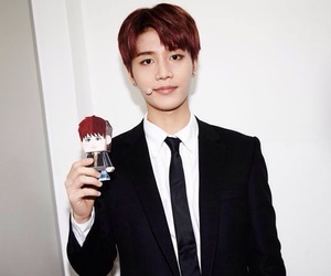 red hair, taeil, and selca image